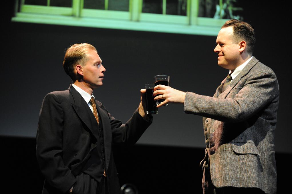 Karl Haynes (Harold Larwood) & Daniel Hoffmann-Gill (Bill Voce)_please credit Robert Day