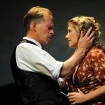 Karl Haynes (Harold Larwood) & Sarah Churm (Lois Larwood) embracing_please credit Robert Day